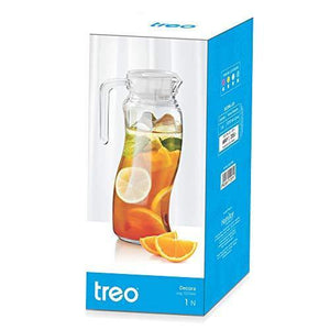 Treo by Milton Decora Glass Jug, 1010 ml, Transparent - Home Decor Lo