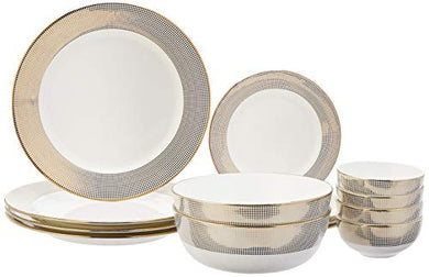 Amazon Brand - Solimo Handmade Ceramic Dinnerware Set, 14 Pieces