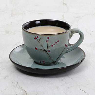 Home Centre Bernina Floral Print Cup and Saucer