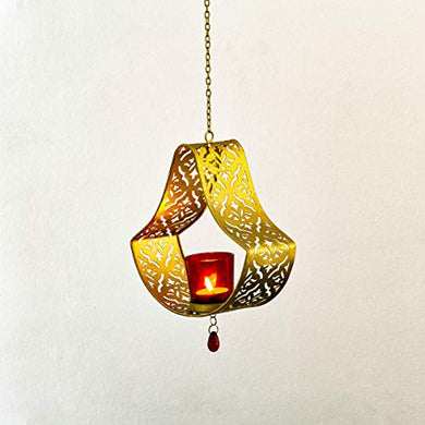 Home Centre Malie Damask Scree Hanging T-Light Holder