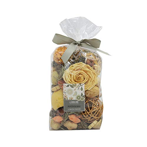 Deco aro Limon Fresh - Lemon Grass Fragranced Potpourri - 200 GMS in Paper Box, Naturally Dried Mixture