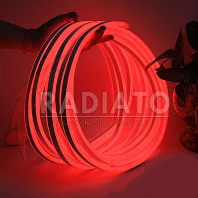 Radiato ES Neon led Rope(Strip), Waterproof Outdoor Flexible Light with Connector, SMD 120LED/M Silicone Light for Diwali, Christmas, Decoration (RED, 2 Meter)