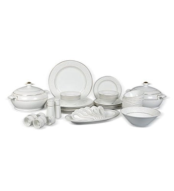 Clay Craft Sanjeev Kapoor Allure Ceramic Dinner Set, 47-Pieces, Multicolour (SK-DS-ALLURE-48)
