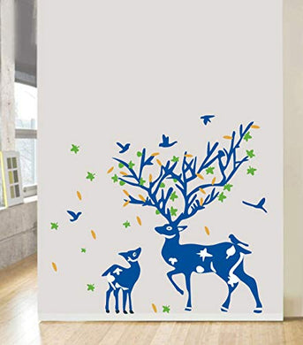 DecorVilla Deer Tree Wall Sticker and Decal (58 x 50 cm)