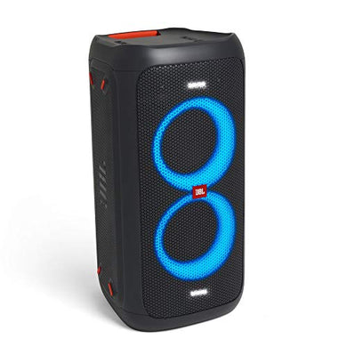 JBL PartyBox 100 Portable Bluetooth Party Speaker with Bass Boost and Dynamic Light Show (160 Watts, Black) (Party Box 100)