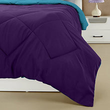 Load image into Gallery viewer, Amazon Brand - Solimo Microfibre Reversible Comforter, Double (Deep Purple and Ocean Blue, 200 GSM)