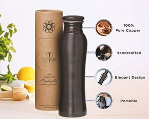 Cop29 Essence of Life - Pure Handmade Antique Finish Fairy Copper Water Bottle with Ayurvedic Health Benefits, 900ml