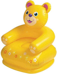 Enorme™ Teddy Bear Shape PVC Inflatable Plastic Animal Chair / Sofa for Kids ( Yellow )