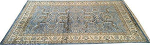 Kashmiri Silk Design Higher Quality Silk Carpet for Your Home & Office Room 180X275 cm (6.0 X 9.0 feet) Sky Blue - Home Decor Lo