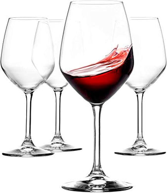 Ash & Roh Red Wine Glasses Crystal Clear Tableware Glass Pack of 4, 350 ml