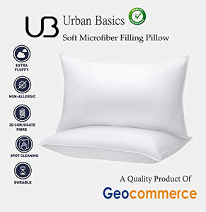 "Urban Basics Soft Microfibre Pillow, 16""x24"" Inch, White, Set of 6 (PIL04_6)"