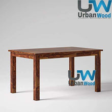 Load image into Gallery viewer, Sheesham Wood Wooden Dining Set 6 Seater with 4 Chairs & 1 Bench | 2 Drawer Storage - Home Decor Lo