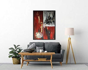 Grab Kart Contemporary Modern Abstract Art Canvas Painting Hand Painted Wall Art Decoration for Living Room Bedroom Office Home Decor - Home Decor Lo