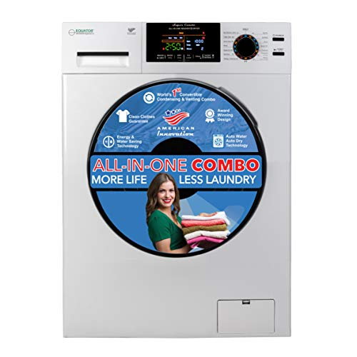 Equator Advanced Appliances 9/6 kg Washing Machine + Heat Dryer Sanitize Allergy Quiet