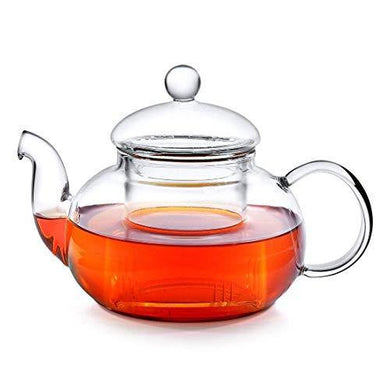 Octavius Borosilicate Glass Teapot/Kettle with Heat Resistant Removable Glass Infuser and Lid - 800ML - Home Decor Lo