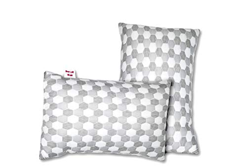 HOMY DECOR 400 GSM Premium Melange Double Jacquard Knitted Breathable Fabric Luxury Hotel Collections Super Soft and Fluffy Pillow for Sleeping Oeko-TEX® Certified (Pack of 2) (17