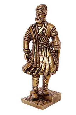 BHARAT HAAT Chhatrapati Shivaji Collectible Handicraft Small Art Idol - Home Decor Lo