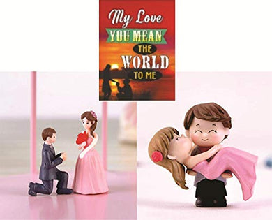 Chocozone Couple Hug Resin Showpiece Couple Miniatures Romantic Gifts for Girlfriend (Hug & Propose Combo)