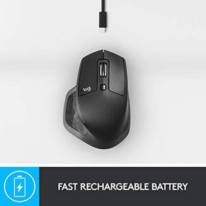 Logitech MX Master 2S Wireless Mouse with FLOW Cross-Computer Control and File Sharing for PC and Mac - Home Decor Lo