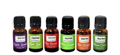 Asian Aura Aroma Diffuser Oil (English Lavender, Rosy Romance, Fruit Basket, Fresh Lime, White Jasmine, Lemon Grass) 10 ML each Pack Of 6