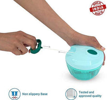 Load image into Gallery viewer, A2SK Mini Handy Vegetable & Fruit Chopper Vegetable Chopper(Multicolor, 450ML)