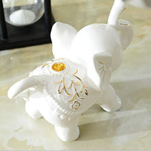 Load image into Gallery viewer, Hello Dream Set of 3 Small (13cm/11cm/8cm) Cute Elephant Family Home Decorative Ornaments (3Pcs) Bone China Material - Home Decor Lo