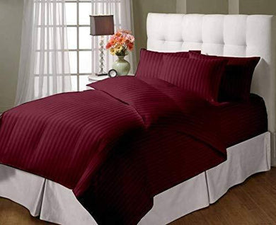 Daksh Premium Cotton 300TC Stain Striped King Size Duvet Cover/Quilt/Razai/Comforter Cover 102
