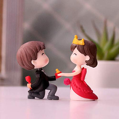 iDream Cute Couple Proposing Guy Resin Showpiece Couple Miniatures Valentines Gifts for Girlfriend