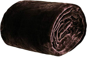 VAS COLLECTIONS® 500 GSM Warm and Super Soft Light Weight Single Bed Mink Blankets for Winter (Brown or Coffee,152X225 cm)