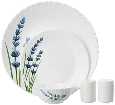 La Opala English Lavender Dinner Set, 20-Pieces, White/Blue/Green