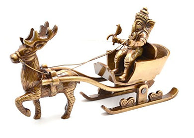Two Moustaches Brass Santa as Ganesha Showpiece | Home Decor |