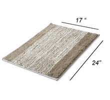 Load image into Gallery viewer, Lykke Decor Anti-Slip Bath Mat Microfiber Soft, Size 40 x 60 cm - Bathroom Rugs - Suitable for Kitchen, Bedroom and Bathroom, Dry Fast Water Absorbent & Machine-Washable - Set of 1