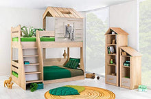 Load image into Gallery viewer, KIDOMATE My House Bunk Bed for Boys & Girls, Elegant Wood Finish Furniture That Suits Every Bedroom