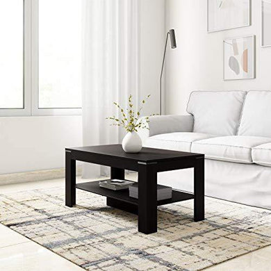 Amazon Brand - Solimo Ginger Engineered Wood Coffee Table (Espresso Finish) - Home Decor Lo