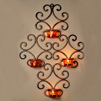ExclusiveLane Wall Scone with Metal 4 Tea Light Holder for Home Decor