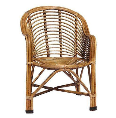 HM SERVICES Cane Chair with Cushion