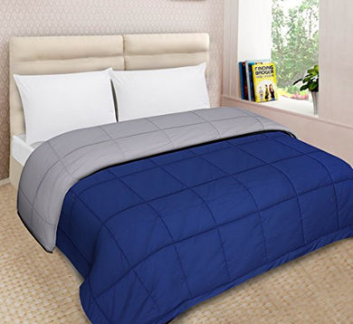 Urban Basics Microfibre 200 TC Reversible Comforter (Blue & Grey_King)