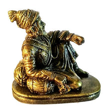 Load image into Gallery viewer, SHB ART CREATION Shivaji Maharaj Sitting Idol (Antique Gold)