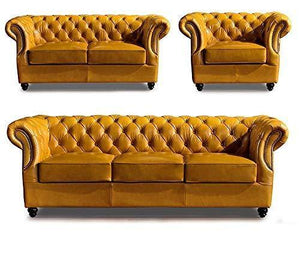 Wood Art Interior Teak Wood Sofa Set with 1-Three Seater Sofa,1 -Two Seater Sofa and one Seater Sofa Chair. - Home Decor Lo