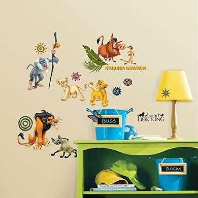 Roommates The Lion King Peel and Stick Wall Decals (Multicolor)