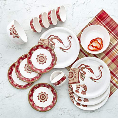 Home Centre Shalimar-Stanton Printed 20-Piece Dinner Set