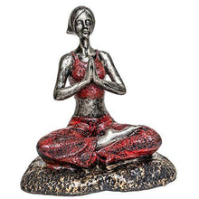 Load image into Gallery viewer, TIED RIBBONS Yoga Lady Statue Figurine for Home Table Top Living Room Hall Bedroom Shelf Decoration - Yoga Posture Statue (25 X 31.5 cm, L X H) - Home Decor Lo