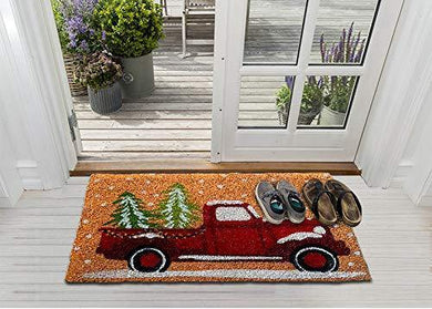 Mats Avenue Heavy Duty Coir Door Mat Natural Printed with The Ultimate Christmas Theme 60 x 90 cm for All Entrances Large Size