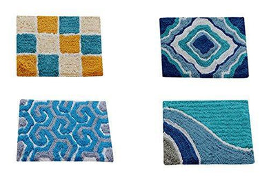 AAZEEM Abstract 4 Piece Cotton Door Mat Set - 16
