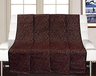 Saral Home Soft Decorative Chenille Sofa Covers/Throw- 140x210 cm, Brown - Home Decor Lo