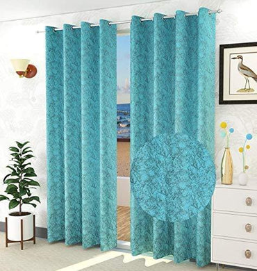 Decoscapes Luxurious Velvet Room Darkening Curtains for Window Pack of 2 Pieces (Caribbean Aqua, Window 5 Feet) - Home Decor Lo