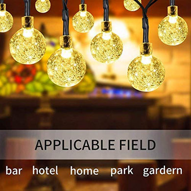 CORAL TREE 20 LED Crystal Bubble Ball String Fairy Lights for Decortaion Diwali Christmas Xmas Light for Diwali Home Decorations Lighting (Warm White, 3 Meter)