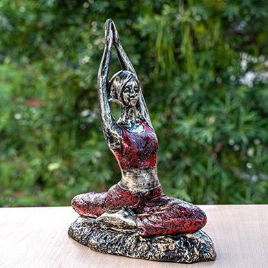 TIED RIBBONS Yoga Lady Statue Showpiece Garden Decoration Items for Outdoor Balcony Lounge (25 X 31.5 cm, L X H) - Home Decor Lo