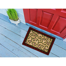 "Load image into Gallery viewer, Floor Art Doormat Loop Pile Anti-Skid Bath Mat, Design Door mat for Home Size 22"" X15"" Inch Pack of 2 (Cream Brown)"