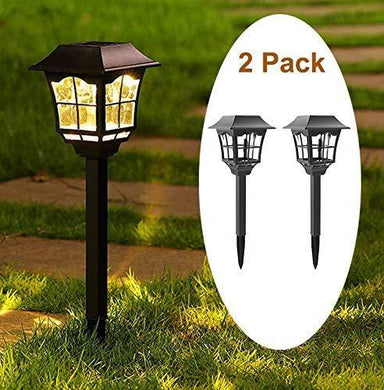 Tapetum Solar European Pathway Garden Light All Weather Outdoor Solar Landscape Lights for Driveway Walkway Sidewalk Lawn Patio Yard - TTSEMPL2W (Pack of 2) - Home Decor Lo